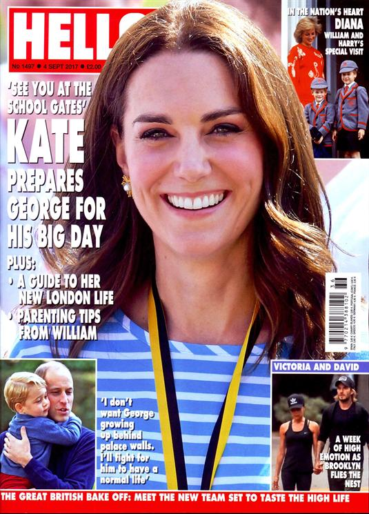 HELLO! magazine 4 September 2017 Kate Middleton Prince George Princess Diana
