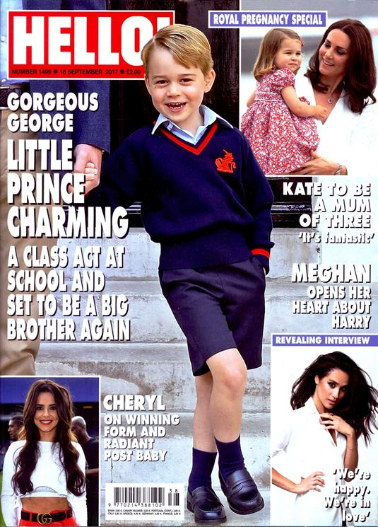 HELLO! magazine 18 September 2017 Prince George Kate Middleton Meghan Markle