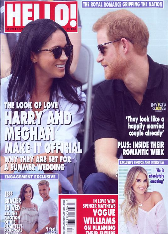 Hello Magazine Prince Harry & Meghan Markle