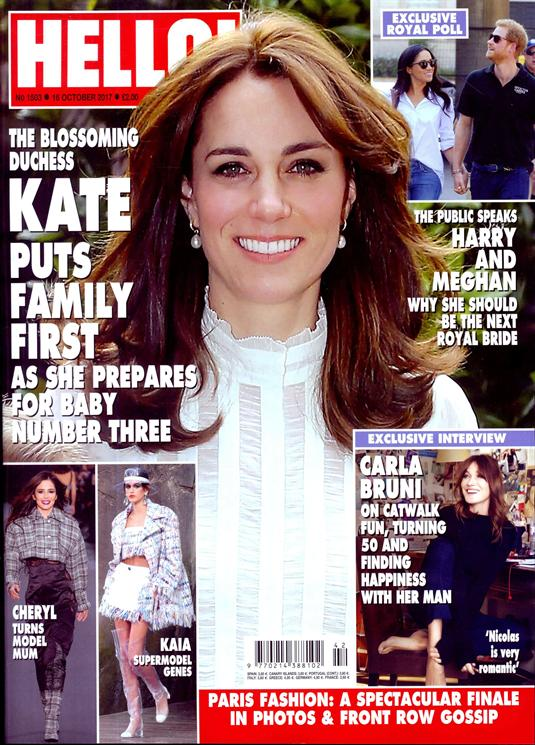 HELLO! magazine 16 October 2017 Kate Middleton Harry Styles George Michael Cindy Crawford