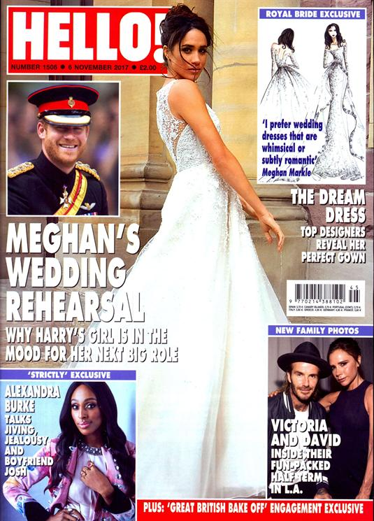 Hello! Magazine 6 November 2017 Meghan Markle Prince Harry Wedding Rehearsal