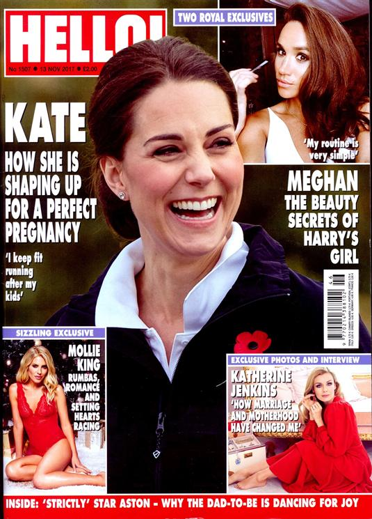 Hello! Magazine 13 November 2017 Kate Middleton Meghan Markle Cristiano Ronaldo