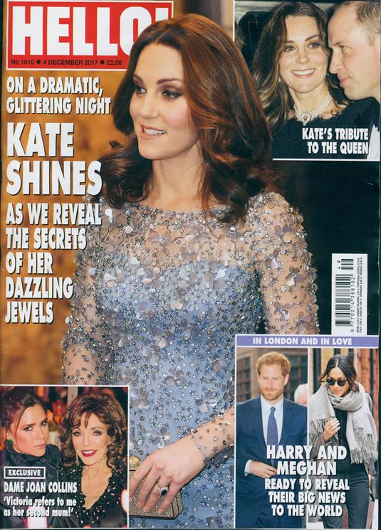 Hello! Magazine December 2017 Kate Middleton David Cassidy Meghan Markle & Harry