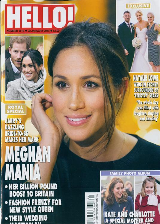 HELLO! magazine 22nd January 2018 Meghan Markle Kate Middleton & Charlotte