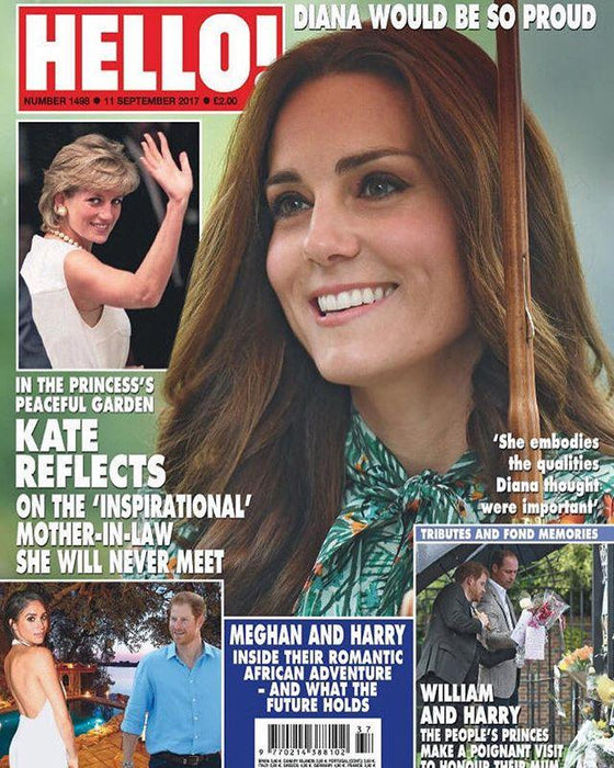 HELLO! magazine 11 September 2017 Kate Middleton Princess Diana Meghan Markle