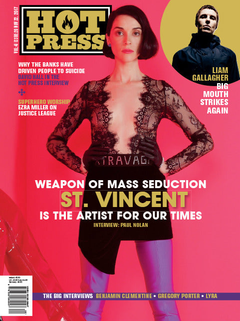 Hot Press Magazine November 2017 St Vincent Ezra Miller Liam Gallagher