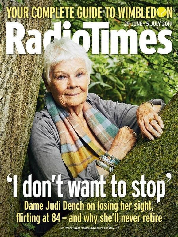 UK Radio Times Magazine 29 June 2019: Judi Dench Cover and Exclusive Interview