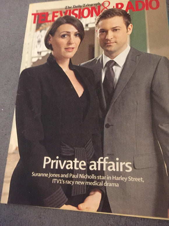 Television & Radio magazine - Suranne Jones and Paul Nicholls cover (12 July 2008)
