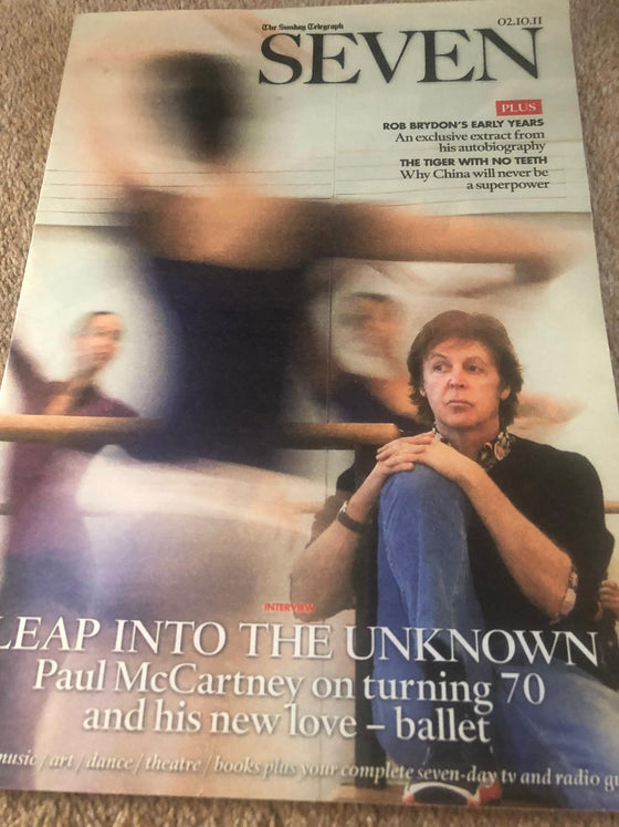 UK Seven Magazine 2nd October 2011 Sir Paul McCartney Cover