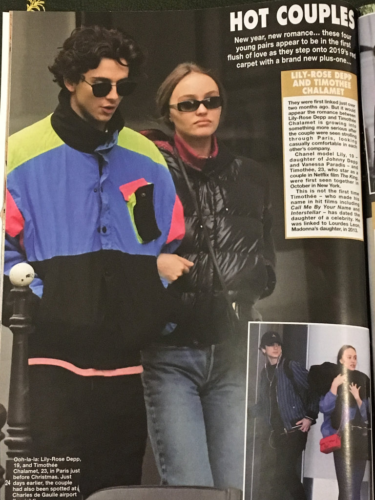 Hello! Magazine January 2019 Timothee Chalamet & Lily Rose Depp