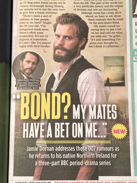 UK Sun TV November 2018: JAMIE DORNAN Ruth Wilson ANDREW SCARBOROUGH
