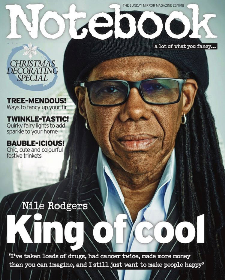 UK Notebook Magazine NOV 2018: NILE RODGERS Chic COVER STORY