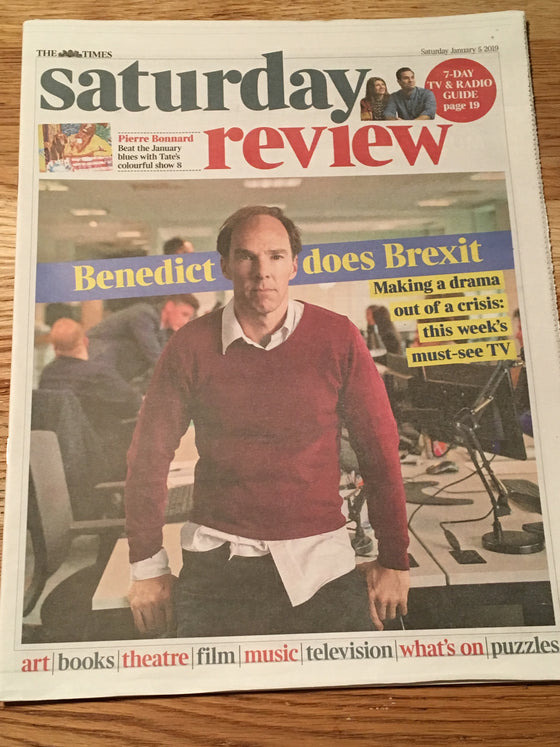 UK TIMES REVIEW magazine January 2019: Benedict Cumberbatch (Brexit) Cover Story