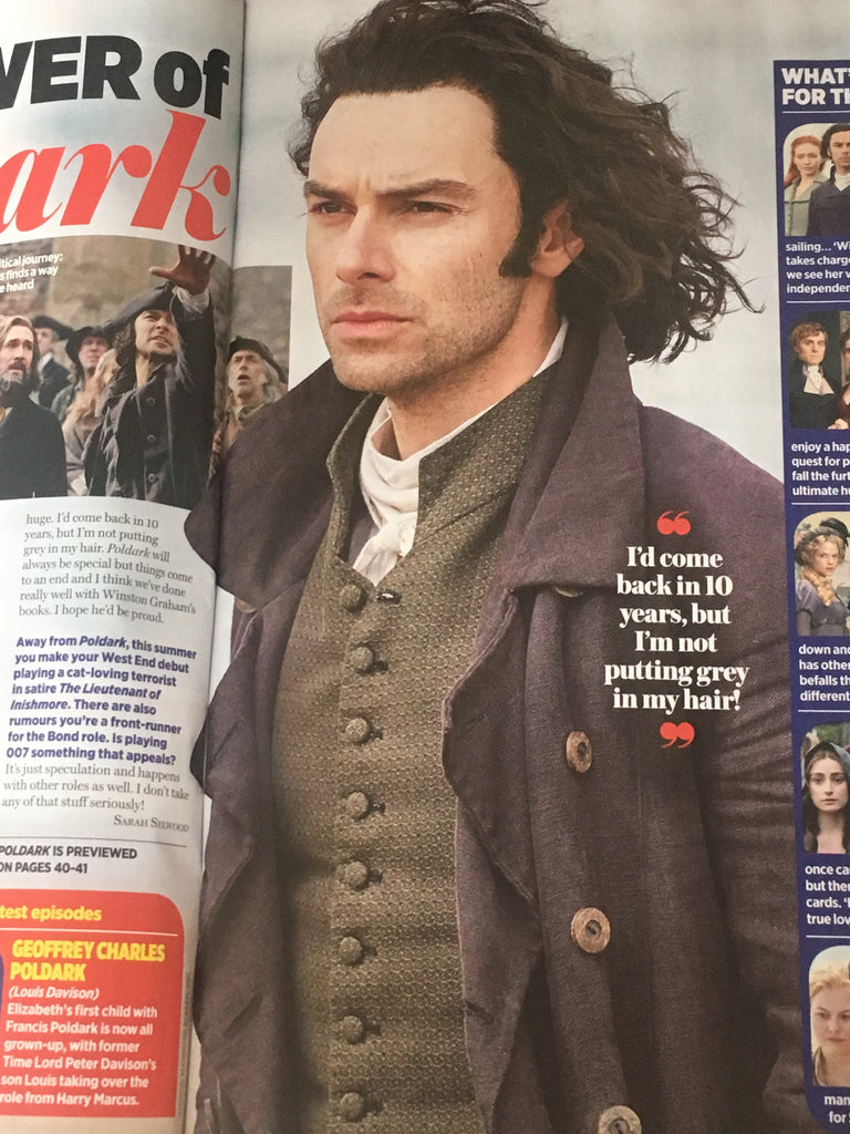 UK TV Times Magazine June 2018: AIDAN TURNER Poldark Cover Interview