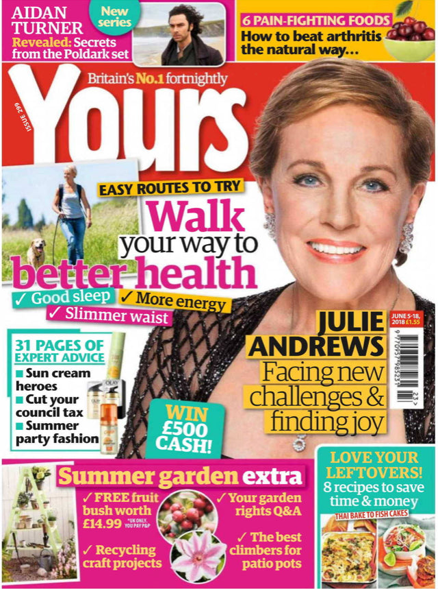 UK Yours Magazine June 2018: Julie Andrews Cover And Interview Aidan Turner