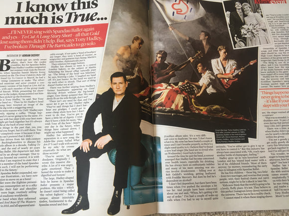 UK EVENT Magazine June 2018: TONY HADLEY Spandau Ballet MICHELLE KEEGAN