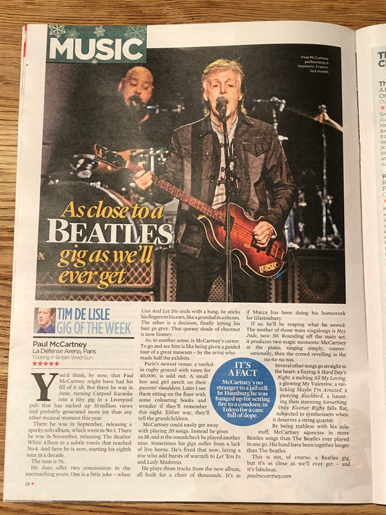 Event Magazine DECEMBER 2018: SIR PAUL McCARTNEY Robert Redford HUGH JACKMAN