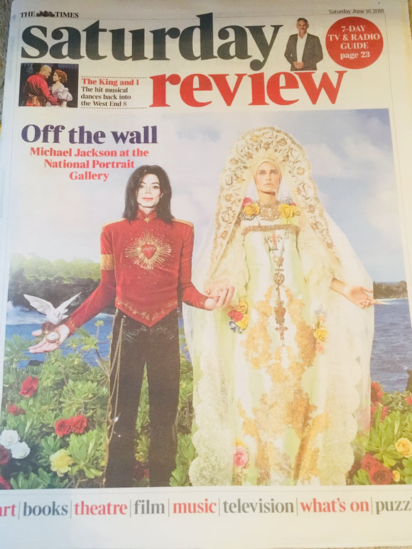 Times Saturday Review 16 June 2018: MICHAEL JACKSON Kelli O'Hara DAVID TENNANT