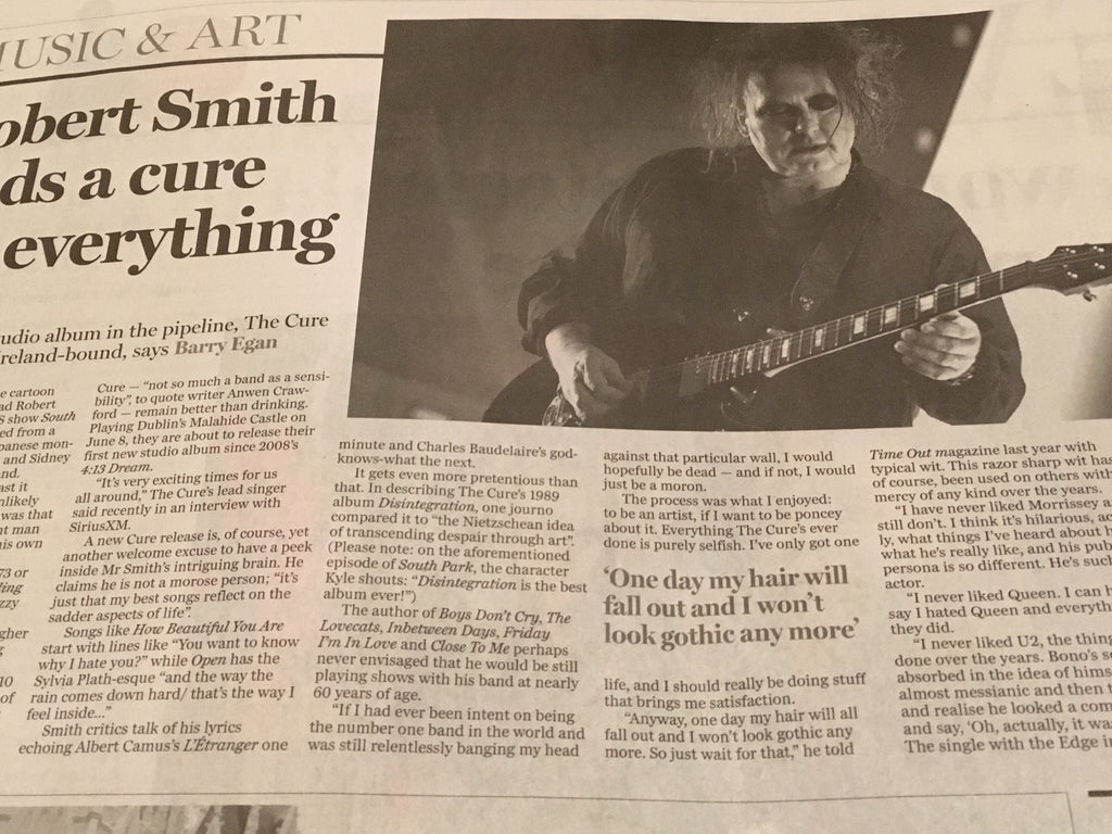 Sunday Independent Living 20 Jan 2019: Robert Smith The Cure Interview
