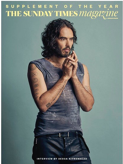UK Sunday Times Magazine Jan 2019: NOEL FITZPATRICK The Supervet RUSSELL BRAND