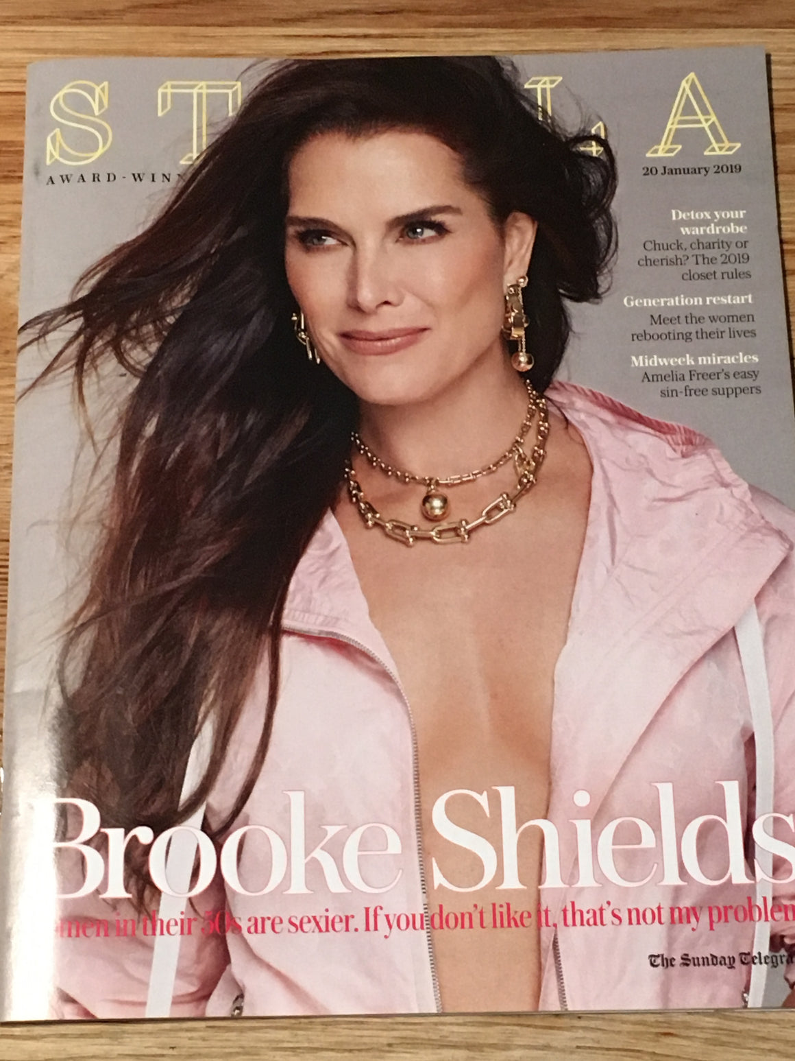 UK Stella Magazine January 2019: BROOKE SHIELDS COVER & FEATURE