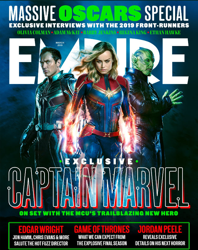 Empire Magazine March 2019: CAPTAIN MARVEL Brie Larson JUDE LAW Skrull