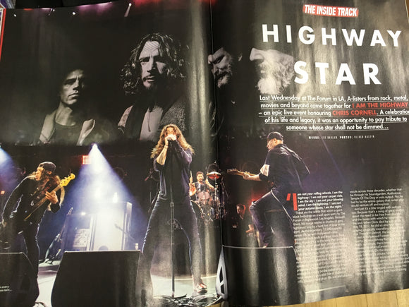 UK Kerrang! Magazine Jan 2019 Bring Me The Horizon - Chris Cornell Chester Bennington