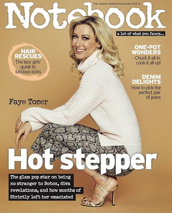 UK Notebook Magazine JANUARY 2019 FAYE TOZER (STEPS) COVER AND FEATURE
