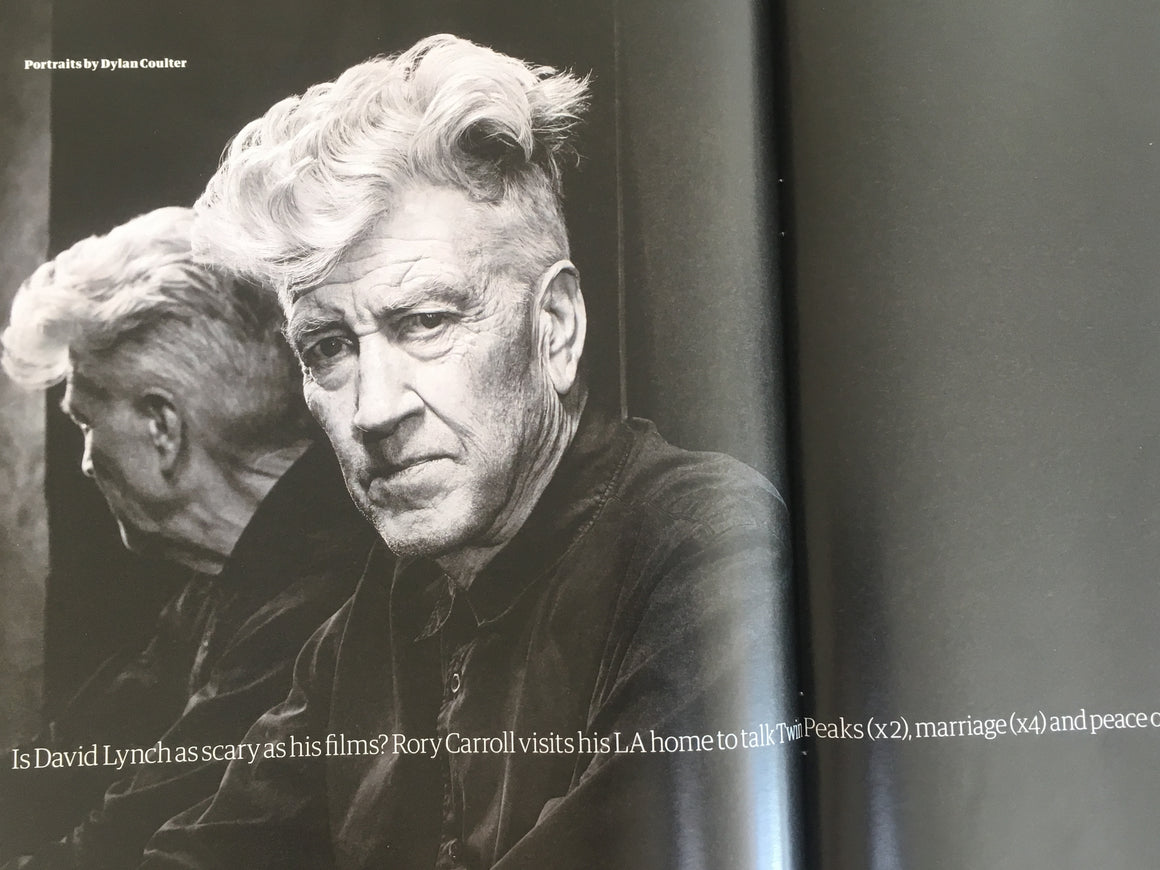 UK Guardian Weekend Magazine JUNE 2018: DAVID LYNCH at home with RUFUS WAINWRIGHT