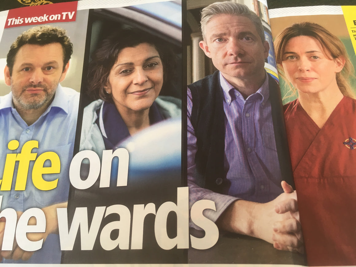 UK TV & SATELLITE MAGAZINE 30th June 2018: Martin Freeman Josh Groban Anna Torv