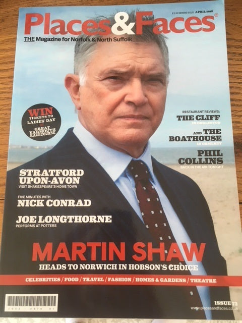 UK PLACES & FACES MAGAZINE APRIL 2016: MARTIN SHAW COVER STORY