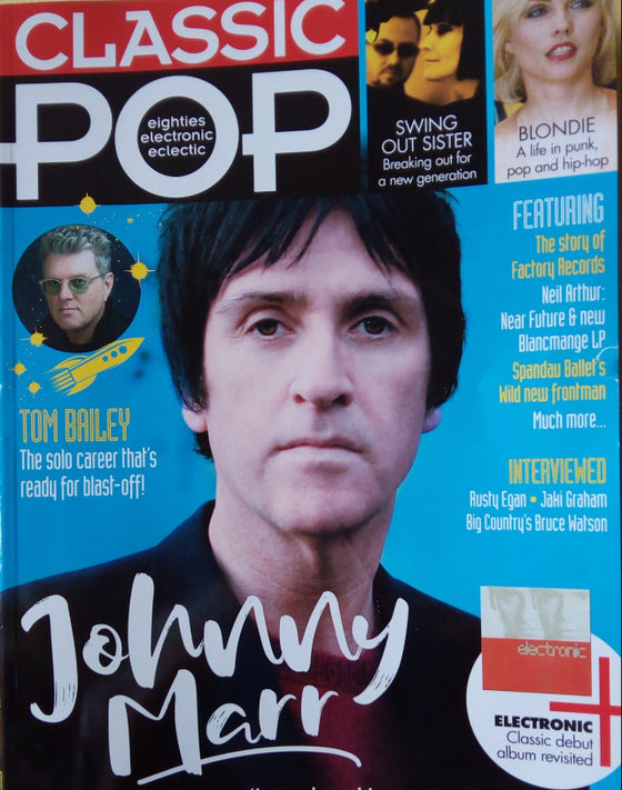 UK Classic Pop Magazine July 2018: JOHNNY MARR Blondie DEBORAH HARRY Spandau Ballet