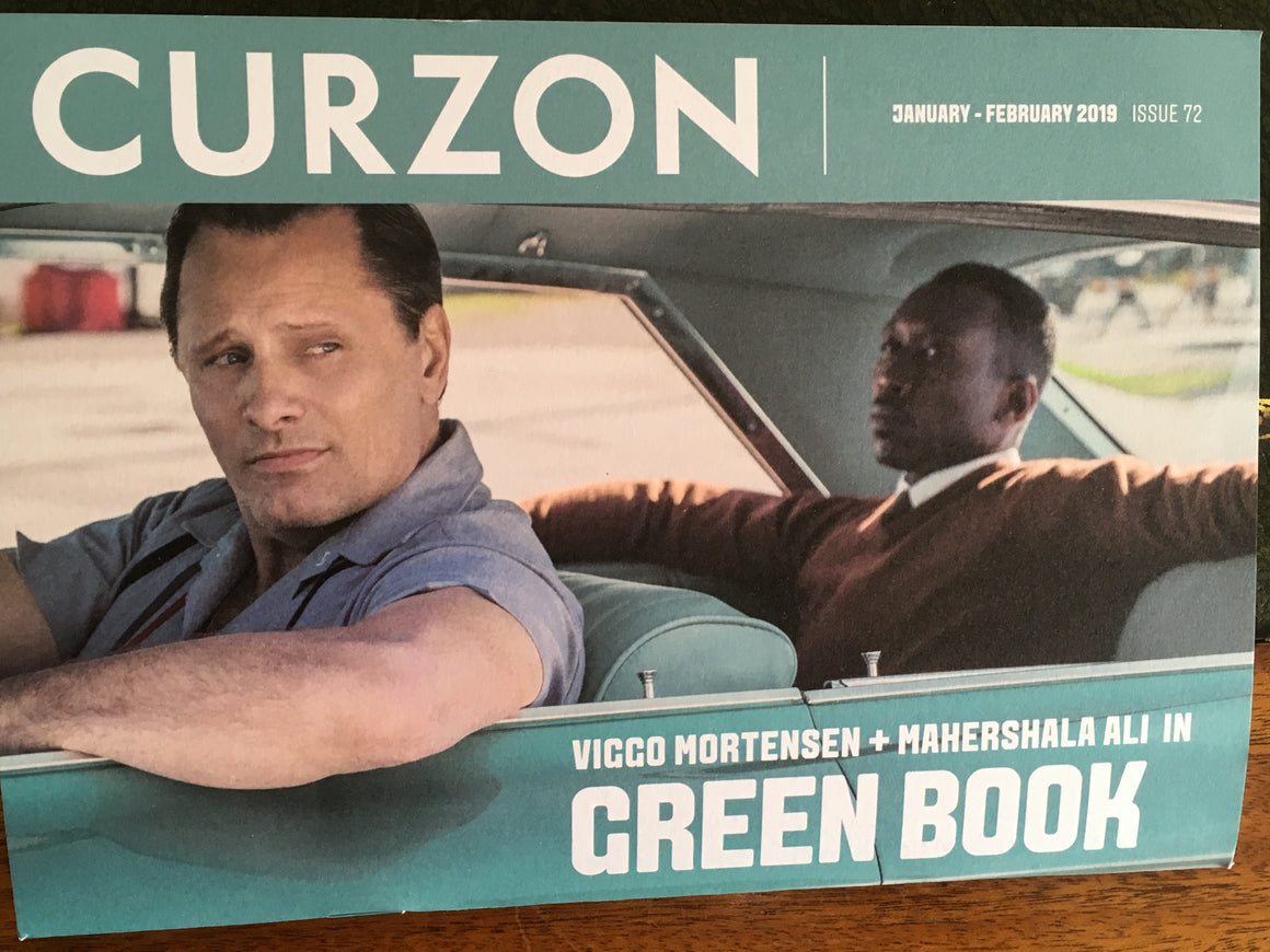 UK Curzon magazine January 2019: Viggo Mortensen Mahershala Ali Green Book Cover