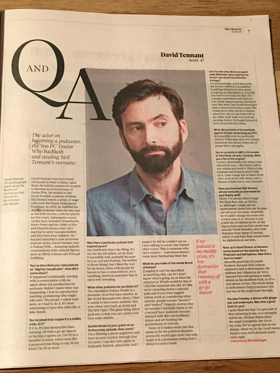 UK Observer Review Feb 2019: DAVID TENNANT Giorgio Moroder DONNA SUMMER
