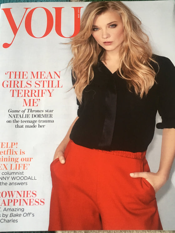 UK YOU Magazine July 2018: NATALIE DORMER Games of Thrones COVER STORY