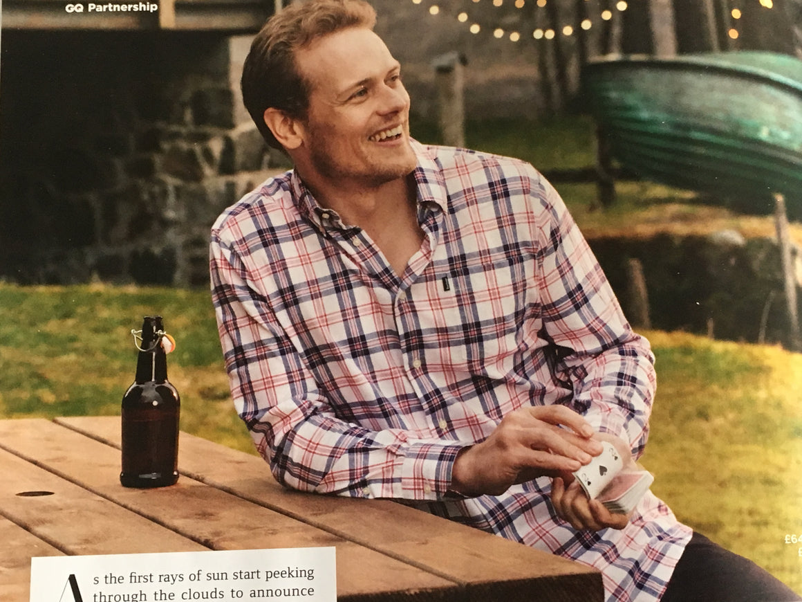 British GQ Magazine 2019: Sam Heughan for Barbour