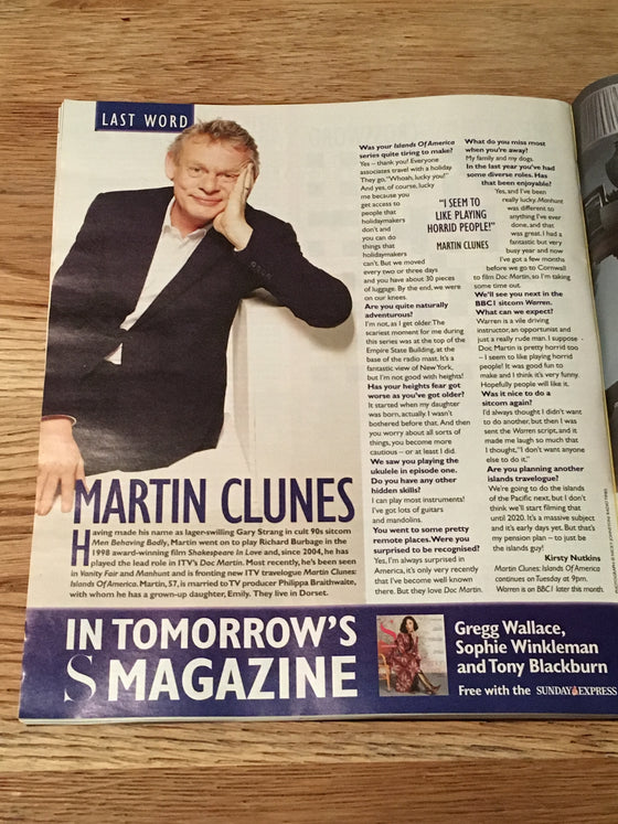 UK SATURDAY Magazine 02/2019: JESSICA RAINE Sean Bean MATT LEBLANC Martin Clunes
