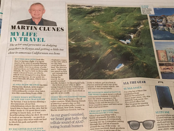Telegraph Travel Supplement 2 February 2019: Martin Clunes Interview