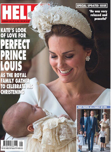 KATE MIDDLETON PRINCE LOUIS ROYAL BABY CHRISTENING SOUVENIR Hello! Magazine July 2018