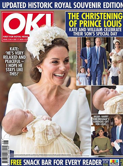 UK OK! Magazine July 2018: Royal Baby Prince Louis Christening ISSUE KATE MIDDLETON