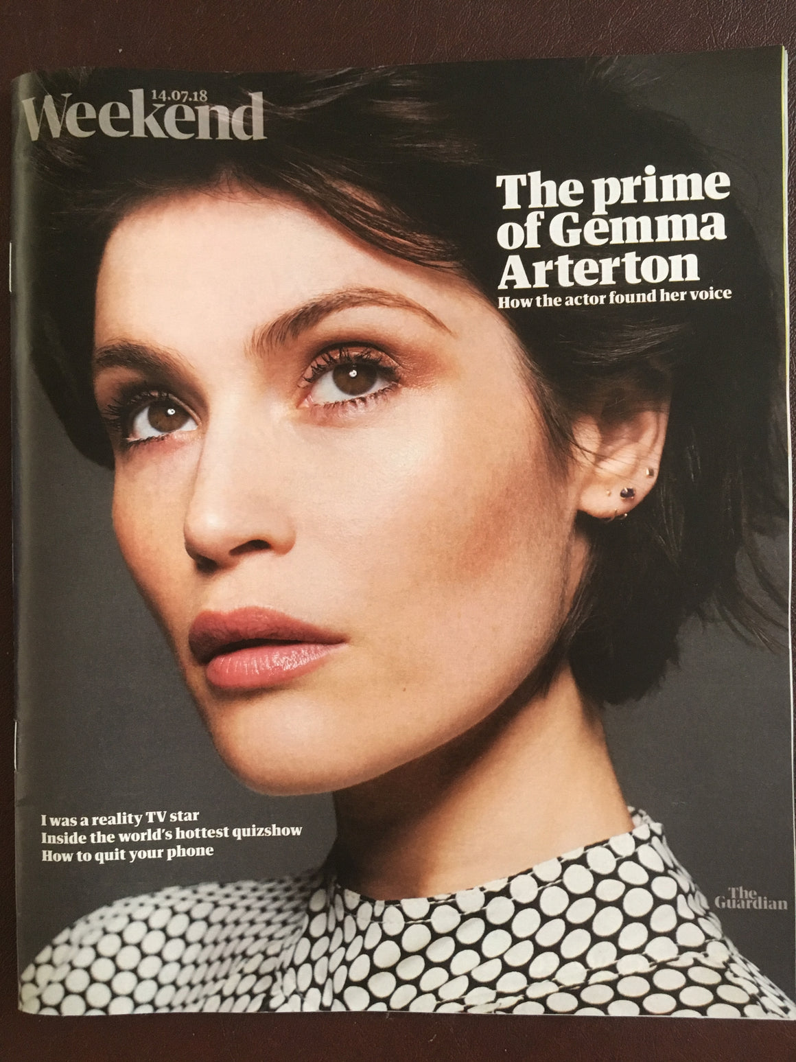 Guardian Weekend magazine 15 July 2018: Gemma Arterton (James Bond) Martin Kemp
