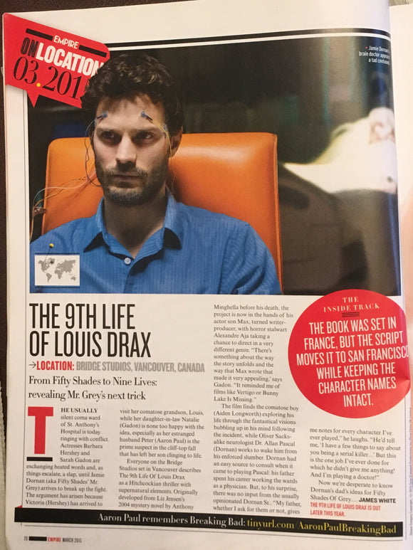 UK Empire Magazine March 2015: JAMIE DORNAN on Locaton