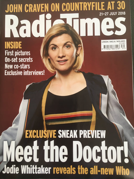 UK Radio Times Magazine July 23 2018 Jodie Whittaker Doctor Who