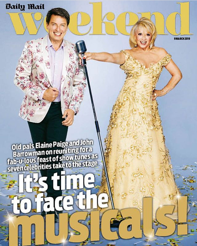 UK Daily Mail Weekend Magazine 9th March 2019: JOHN BARROWMAN & ELAINE PAIGE