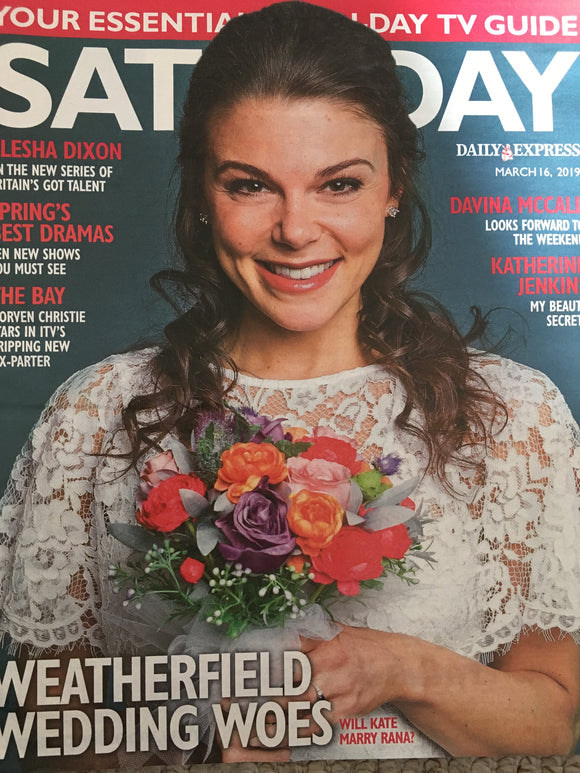 Saturday Magazine March 2019: FAYE BROOKES Katherine Jenkins SHALAMAR Movren Christie