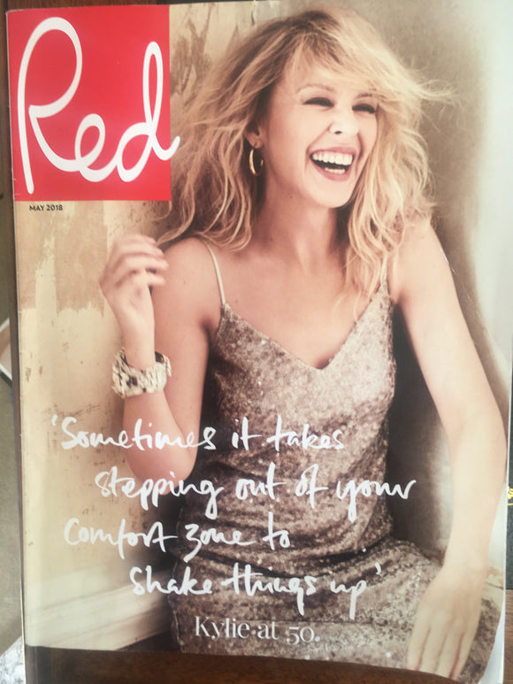 UK Red Magazine May 2018 KYLIE MINOGUE Rare Subscribers Cover