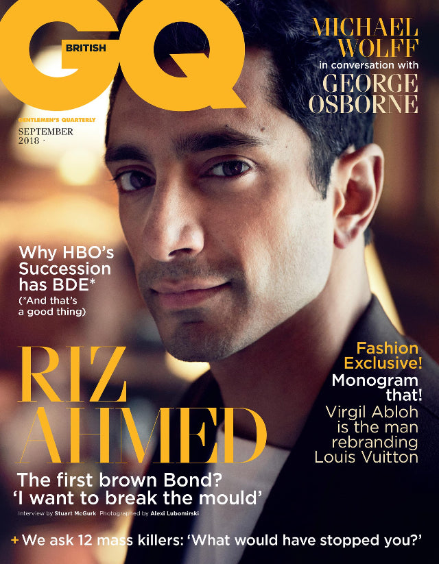 British GQ Magazine September 2018: Star Wars RIZ AHMED COVER INTERVIEW