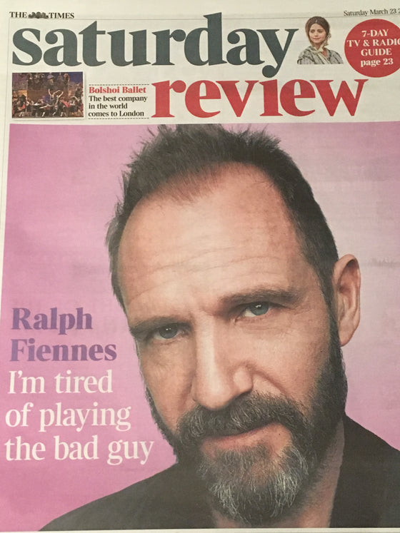 The Times Review - Ralph Fiennes Cover & Interview (23 March 2019)