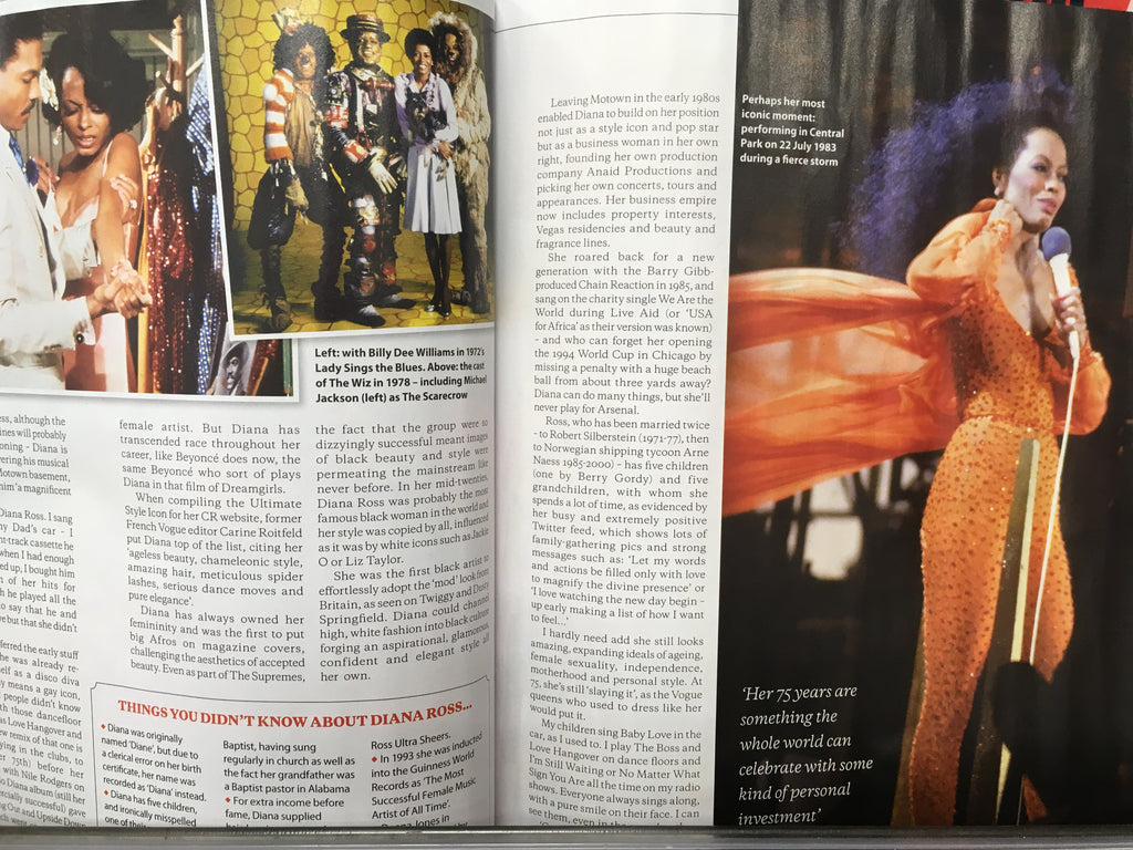 UK The Lady Magazine April 2019: DIANA ROSS EXCLUSIVE FEATURE