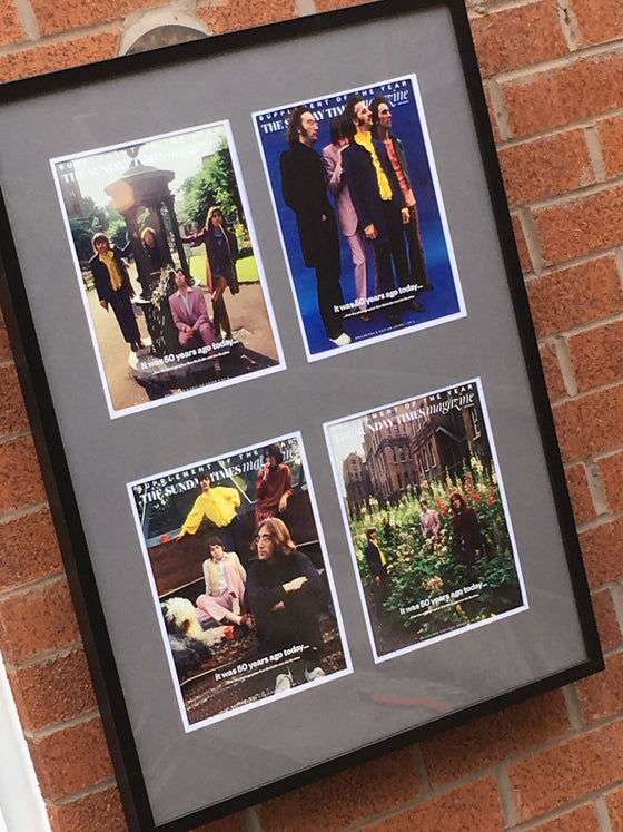 UK Sunday Times Magazine: THE BEATLES SET OF 4 by Don McCullin Limited Framed Edition